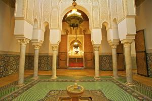 Interior of Mausoleum of Moulay Ismail, Meknes, Morocco, North Africa, Africa by Neil