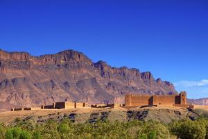 Kasbah at Tamnougalt, Morocco, North Africa, Africa by Neil
