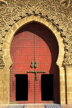 Mausoleum of Moulay Ismail, Meknes, Morocco, North Africa, Africa by Neil