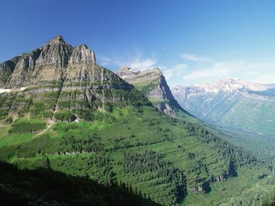 Glaciated Mountain Peaks and Valley