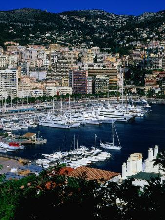 Boats in Port, Monte Carlo, Monaco
