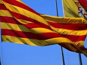 Catalan Flag, Barcelona, Spain by Neil Setchfield