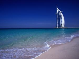 The Burj Al Arab or the Arabian Tower of the Jumeirah Beach Resort, Dubai, United Arab Emirates by Neil Setchfield