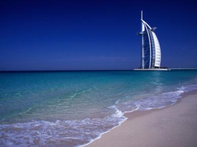 The Burj Al Arab or the Arabian Tower of the Jumeirah Beach Resort, Dubai, United Arab Emirates