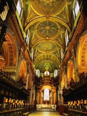 The Choir and Apse of St. Paul's Cathedral Under a Mosaic Ceiling, London, England by Neil Setchfield
