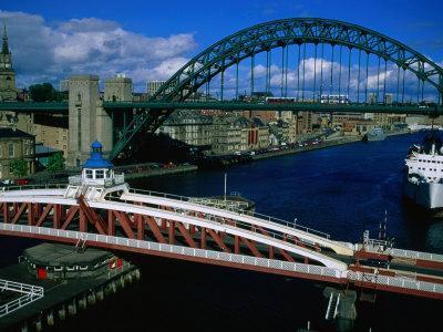 Tyne and Swing Bridges, Newcastle-Upon-Tyne, United Kingdom