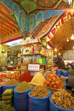 Spice Stall, Medina, Meknes, Morocco, North Africa, Africa by Neil