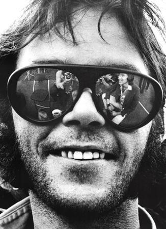 Neil Young (Sunglasses, Oakland Stadium 1974) Poster Print