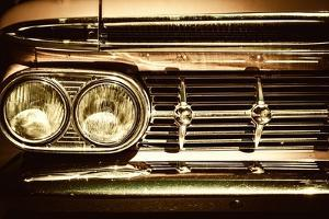 Close-Up of Retro Car Facia with Chrome Grille by NejroN Photo
