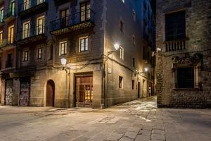 Empty Street of Barri Gotic at Night, Barcelona by NejroN Photo