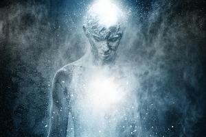 Man with Conceptual Spiritual Body Art by NejroN Photo