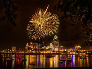 Firework on the River by Nelson Charette