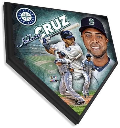 Nelson Cruz Home Plate Plaque