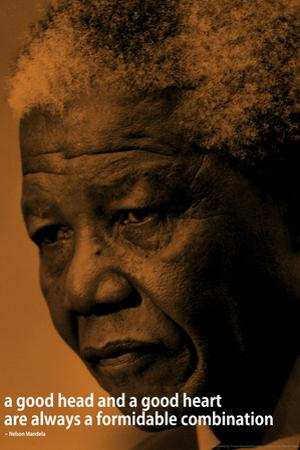 Nelson Mandela Quote iNspire Motivational Plastic Sign