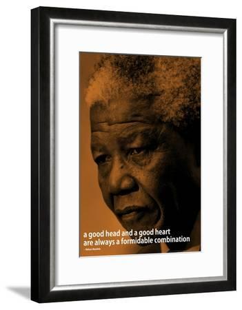 Nelson Mandela Quote iNspire Motivational Poster--Framed Poster