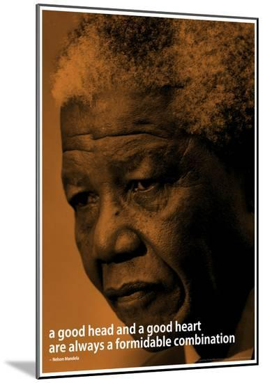 Nelson Mandela Quote iNspire Motivational Poster--Mounted Print