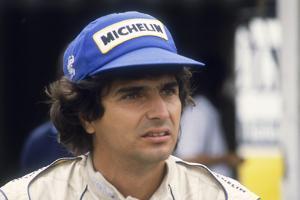 Nelson Piquet at the British Grand Prix, Silverstone, Northamptonshire, 1983