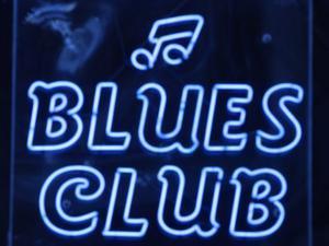 Neon Blues Club Sign