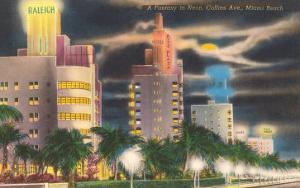 Neon, Collins Avenue, Miami Beach, Florida