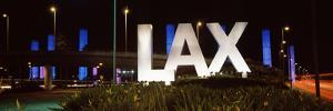 Neon Sign at an Airport, Lax Airport, City of Los Angeles, Los Angeles County, California, USA