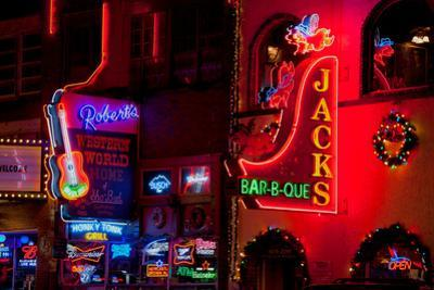 Neon Signs on Lower Broadway Area, Nashville, Tennessee, USA