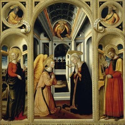 Annunciation Showing St Apollonia, St Luke and Prophets David and Isaiah