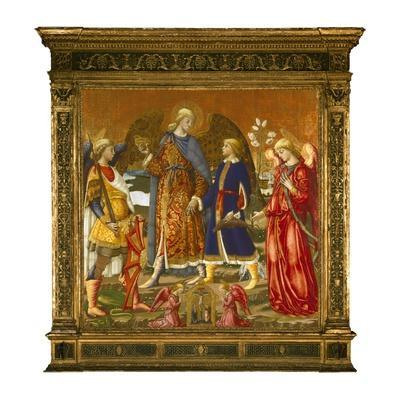 Tobias and Three Archangels, 1471 (Tempera, Oil, Gold and Silver on Panel)