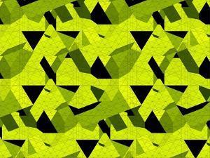 Spider Net Line Geometric Kaleidoscope by NesaCera