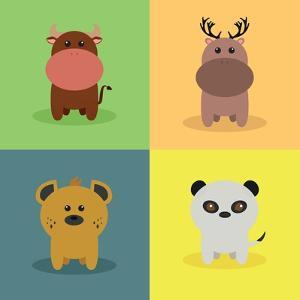 Cute Cartoon Animals by Nestor David Ramos Diaz