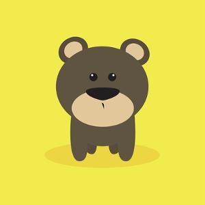 Cute Cartoon Bear by Nestor David Ramos Diaz