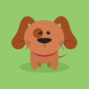 Cute Cartoon Dog by Nestor David Ramos Diaz