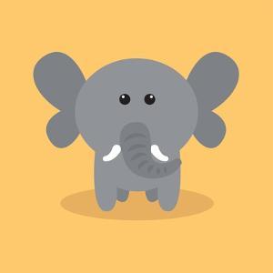 Cute Cartoon Elephant by Nestor David Ramos Diaz