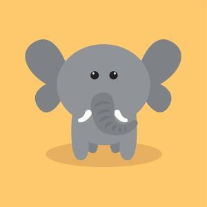 Cute Cartoon Elephant by Nestor David Ramos Diaz