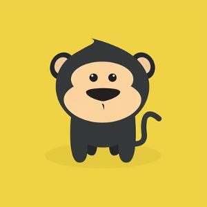 Cute Cartoon Monkey by Nestor David Ramos Diaz