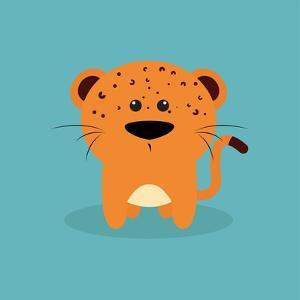 Cute Cartoon Tiger by Nestor David Ramos Diaz