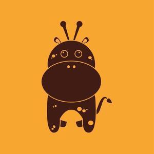 Cute Giraffe Silhouette by Nestor David Ramos Diaz