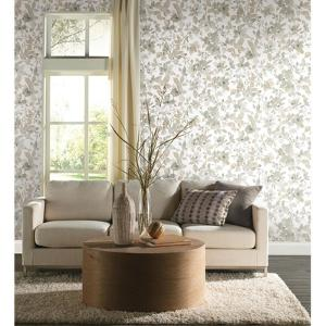 Neutral Watercolor Floral Peel & Stick Wallpaper