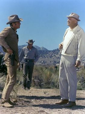 NEVADA SMITH, 1966 directed by HENRY HATHAWAY On the set, Henry Hathaway directs Steve McQueen and