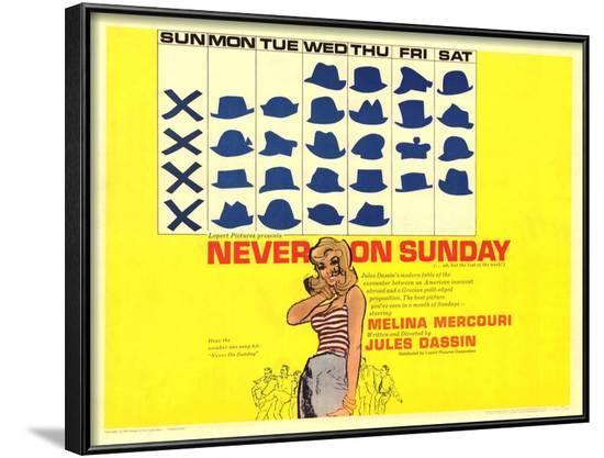 Never on Sunday, 1960--Framed Art Print