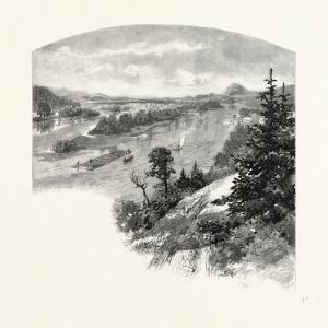 New Brunswick, Restigouche River, from Prospect Hill, Canada, Nineteenth Century