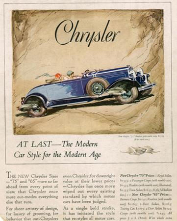 New Chrysler 75-The Modern Car