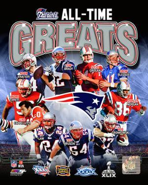 New England Patriots All Time Greats Composite