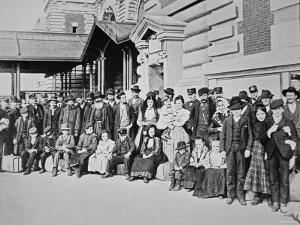 New Immigrants on Ellis Island, New York, 1910