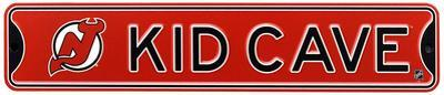 New Jersey Devils Steel Kid Cave Sign