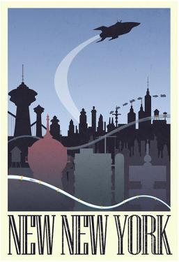 New New York Retro Travel Poster