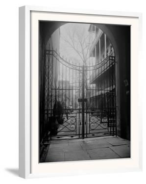 New Orleans' French Quarter is Famous for its Intricate Ironwork Gates and Balconies