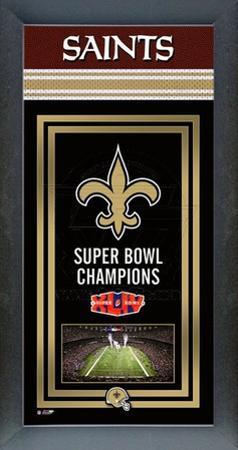 New Orleans Saints Framed Championship Banner