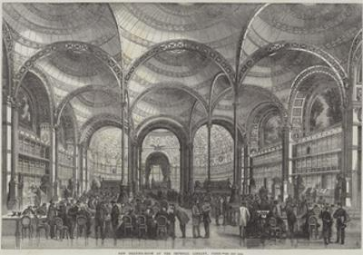 New Reading-Room at the Imperial Library, Paris