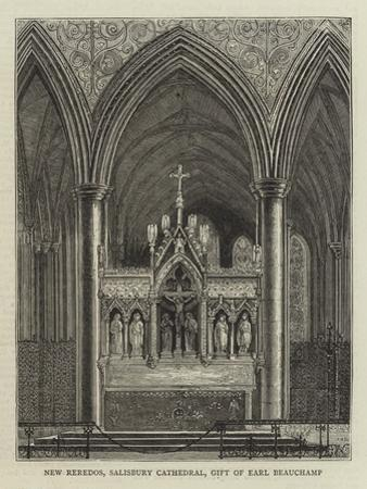 New Reredos, Salisbury Cathedral, Gift of Earl Beauchamp