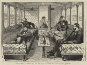 New Saloon Carriage on the London, Brighton, and South Coast Railway